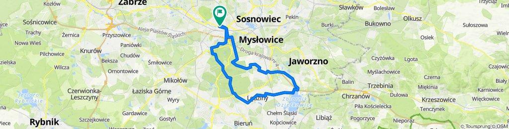 🚴🏼♂️ Katowice ➡️ Dziećkowice /przez las Murckowski
