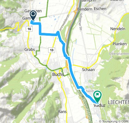 Long Mittwoch Route In Gams