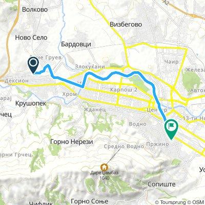 Lengthy Evening Track In Skopje