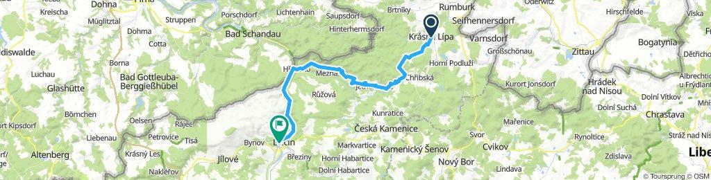 Krásná Lípa-Mezná-Hŕensko-Děčín