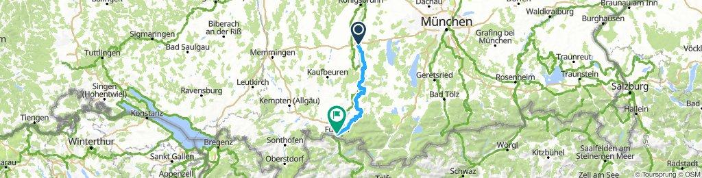 Landsberg to Füssen
