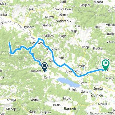 Milino selo-Orlovačko jezero-Ostravica-Petrovo selo-Tuzla