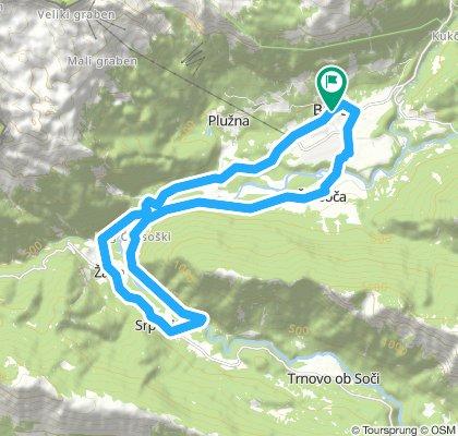 Bovec maraton 21+ trasa