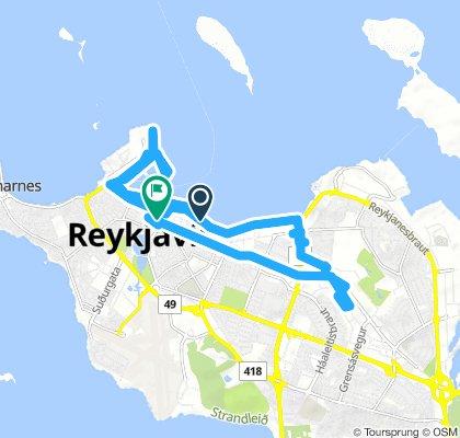 route around the city