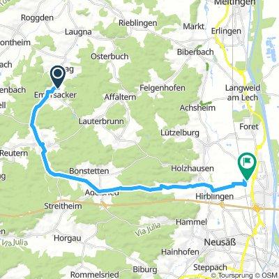 nach Gersthofen über Axtesberg