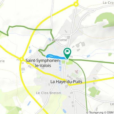F07c van La Haye du Puits naar traject 19