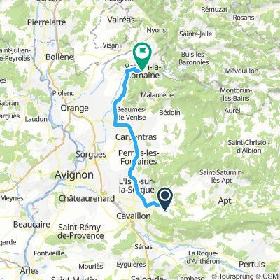Anfahrt Mont Ventoux