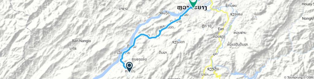 Kuang Si waterfall to Utopia bar