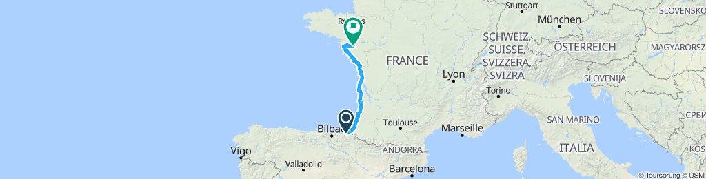 San Sebastian to Nantes