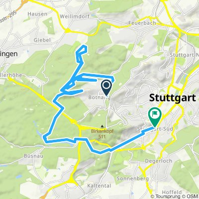 Stgt-Arizona-IndianaJones-DischingerBurg-Botnang-Wildpark-Bärensee-Klabuster-Marienplatz-25km