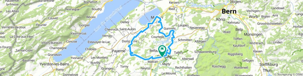 Fribourg - Murten - Avenches - Fribourg