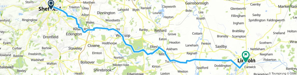 Sheffield to Lincoln