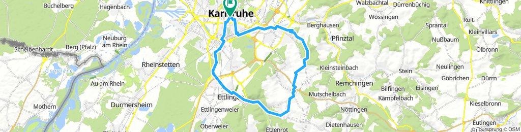 Karlsruhe Turmberg Waldbronn Ettlingen
