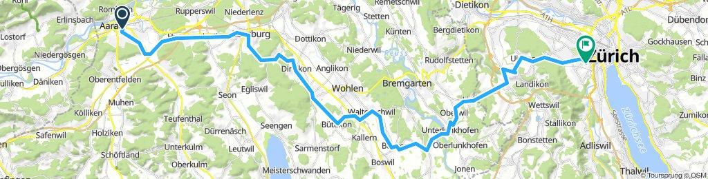 Aarau-Unterlinkhofen-Zürich