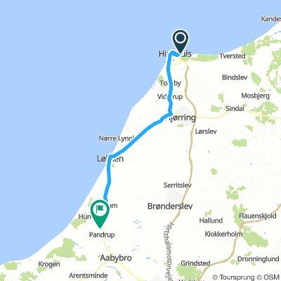 Karta Danmark Hirtshals.Hirtshals Skagen Bikemap Your Bike Routes