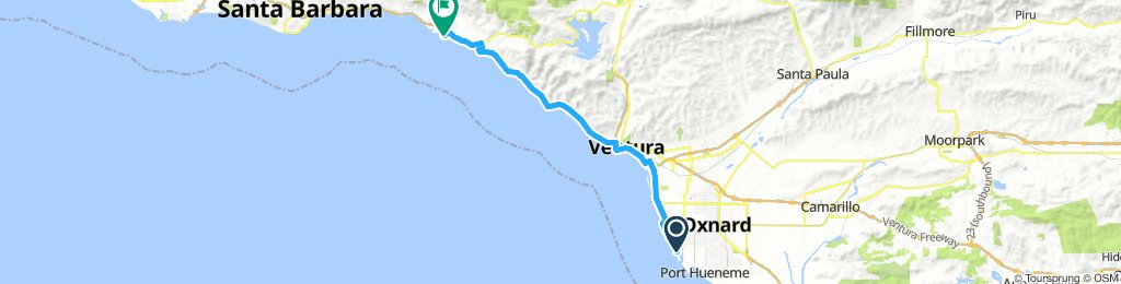 Channel Island Harbor to Carpintera SB