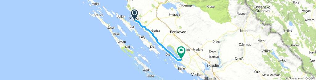 MTB AT continental route ZADAR - VRANA LAKE