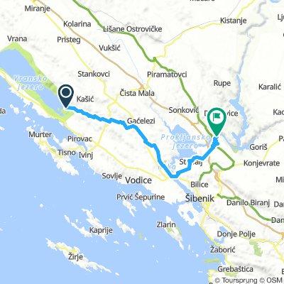 MTB AT continental route - LAKE VRANA - KRKA NP