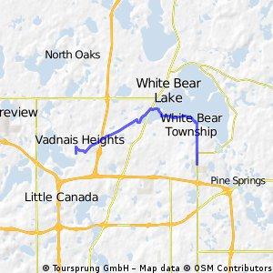 B2B00457 55127>55110 Centervl/GooseLk/Hoffman/WhiteBear/S.Shore/Century