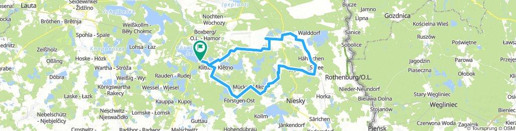 Rennradrunde (leicht) östlich Bärwalder See