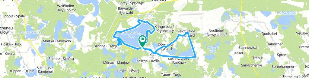 Rennradrunde (klein) östlich und um den Bärwalder See
