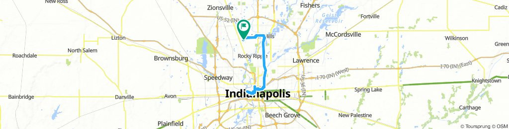 Moderate Afternoon Route In Indianapolis