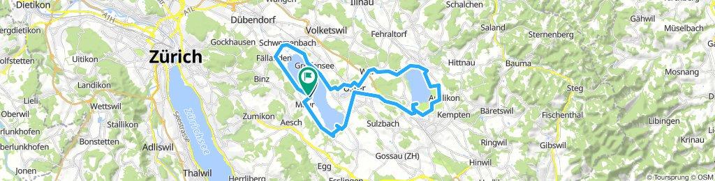 Greifensee/Pfäffikersee Rundweg
