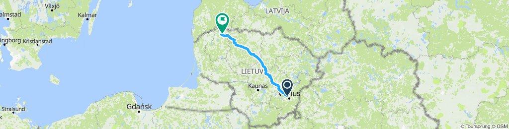 Vilnius-Mažeikiai 300km/680m