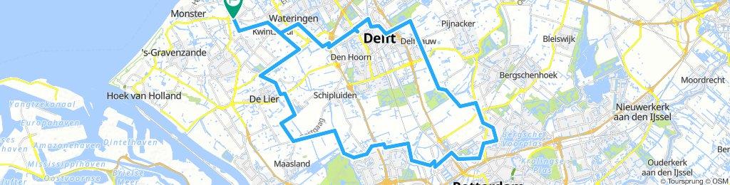 2018 08 02 Op en neer naar Rotterdam. Heen 37.5 km/ Terug 27.4 km