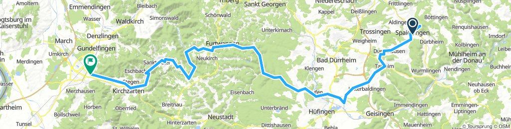 Durch den Schwarzwald nach Freiburg