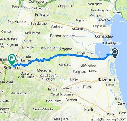 Bologna-Casalborsetti per strade veloce