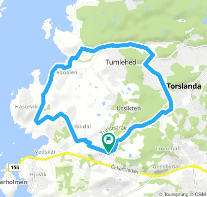 Lengthy Evening Route In Torslanda