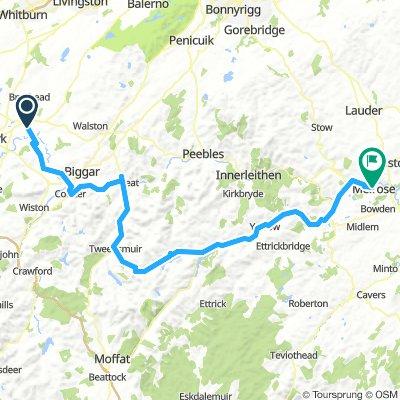 Carstairs-Melrose via Yarrow Valley