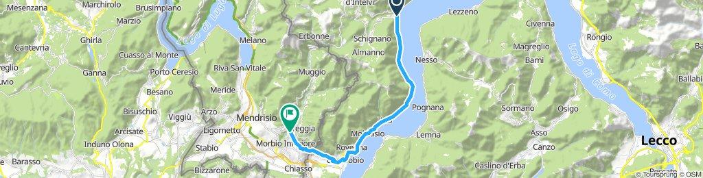Argregno - Cernobio - Morbio S. Return; 13m = 20.8 km