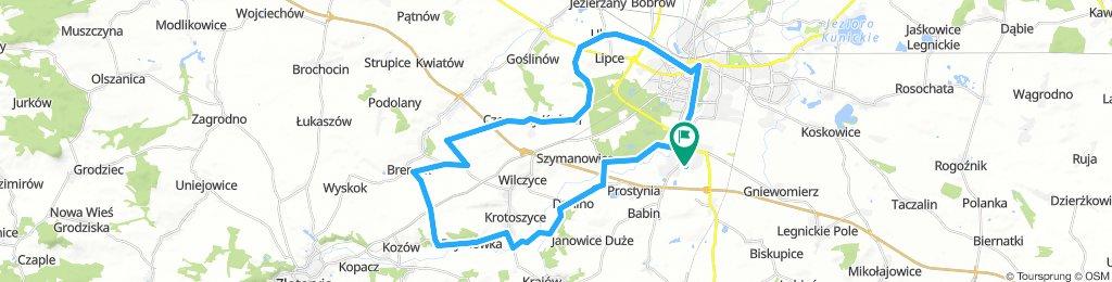 Południowo-zachodnie trasy Legnica