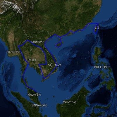 BWT:Taiwan-China-Vietnam-Laos-Thailand