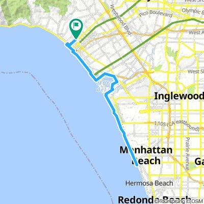 930 Cali Ave to Manhattan Beach Pier