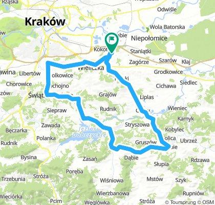 Węgrzce - Wieliczka - Świątniki - Dobczyce - Węgrzce