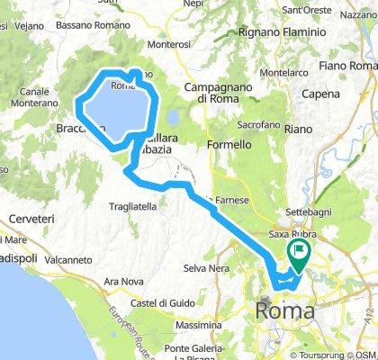 Roma-Giro Lago di Bracciano e Ritorno