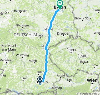 Directions from Aignerstraße 31, 81541 München to Berlin