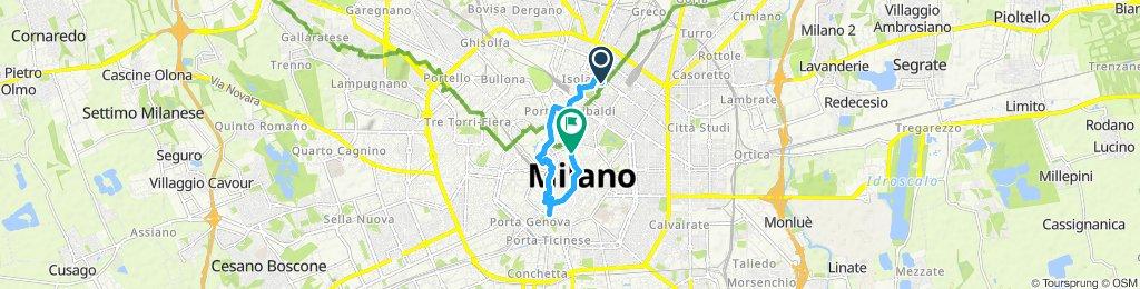 Milaan op de fiets