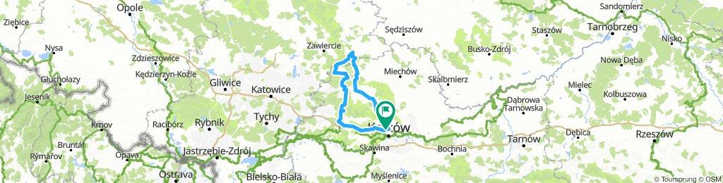 Kraków - Pilica - Olkusz - Kraków