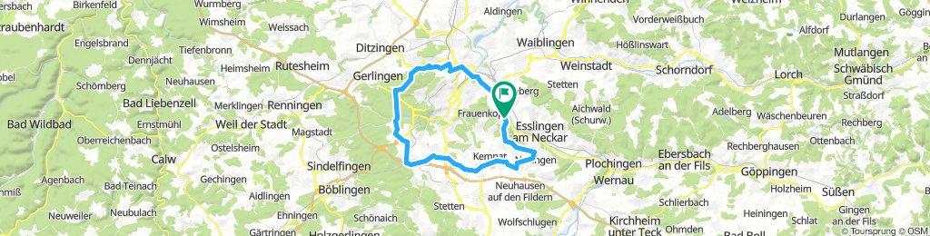 Rt um Stuttgart (Südroute)