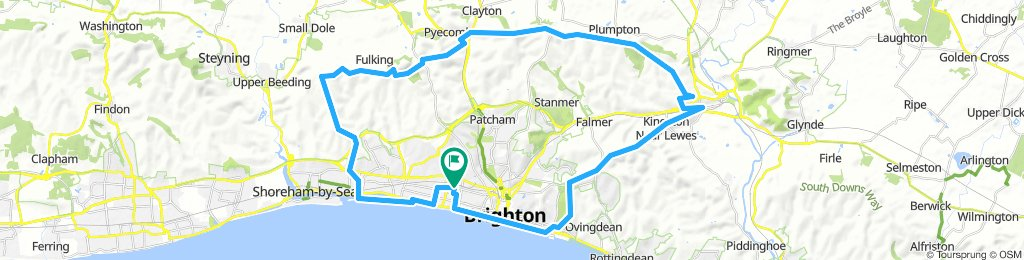 Brighton Loop Via Lewes
