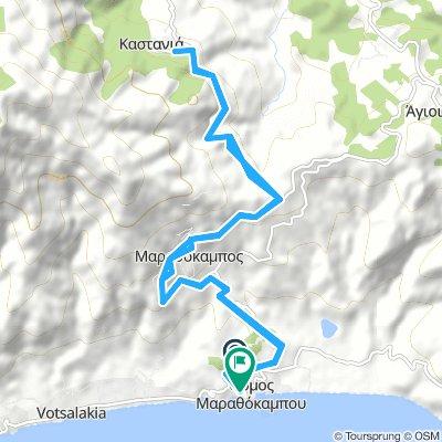 Von Ormos nach Marathokampos hinüber nach Kastania und wieder Retour☀️😉.