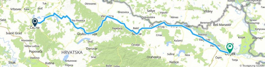Čazma - Osijek