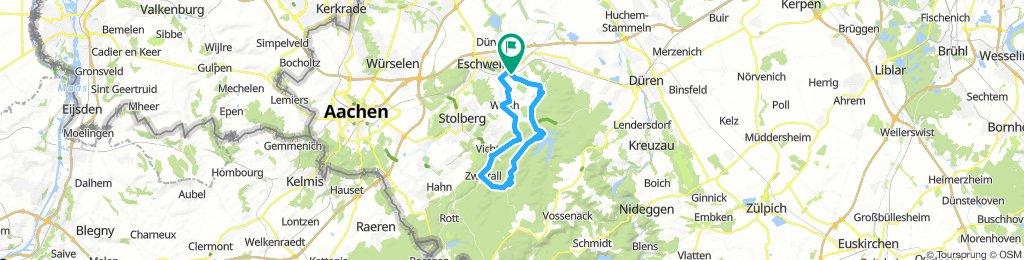 Rundkurs 37km Zweifall ü. Wehebachtalsperre
