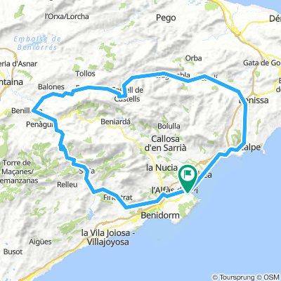 Circular Tudons-Benasau-Gorga-Castells-Benigembla-Xalo-Benisa