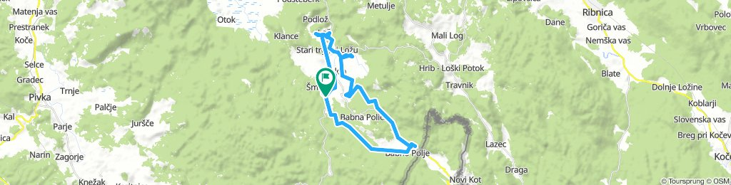 Moderate Sunday Route In Loška Dolina