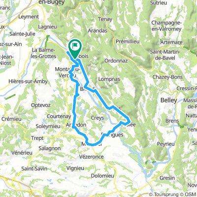 F 606: Sault-Brénaz - Morestel - Sault-Brénaz